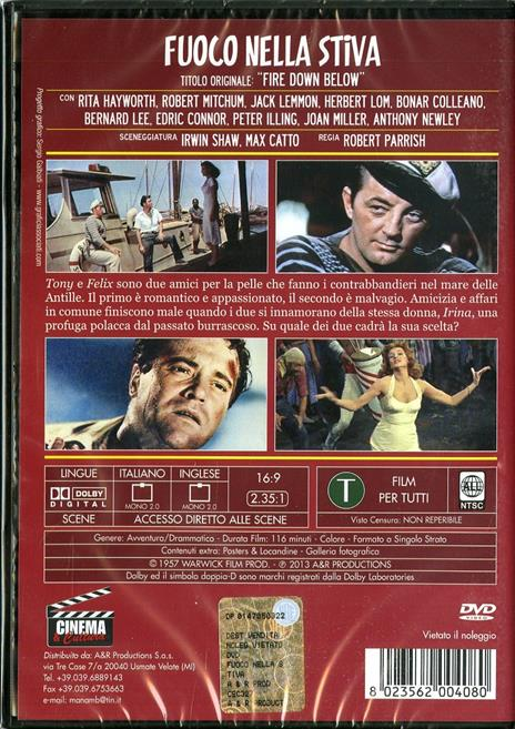 Fuoco nella stiva di Robert Parrish - DVD - 2