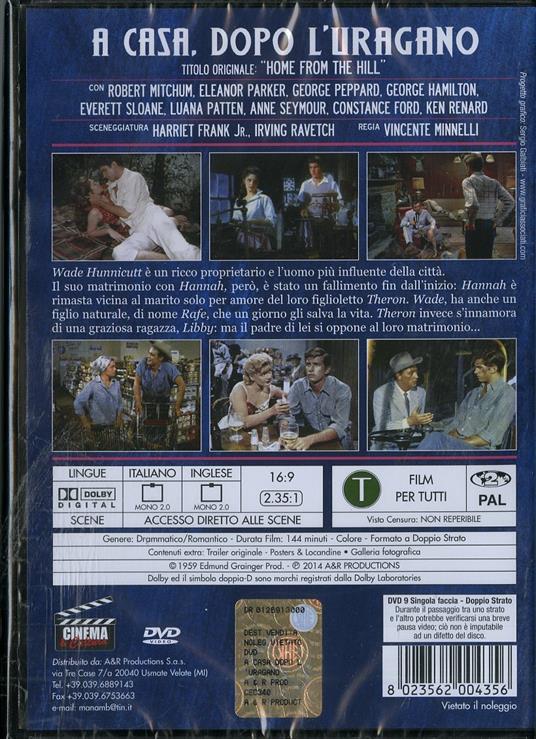 A casa dopo l'uragano di Vincente Minnelli - DVD - 2
