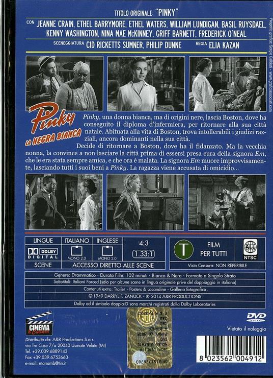 Pinky, la negra bianca di Elia Kazan - DVD - 2