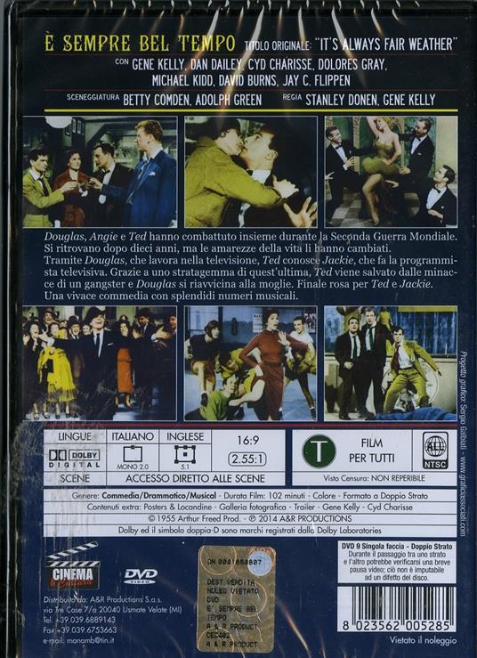 È sempre bel tempo di Stanley Donen,Gene Kelly - DVD - 2
