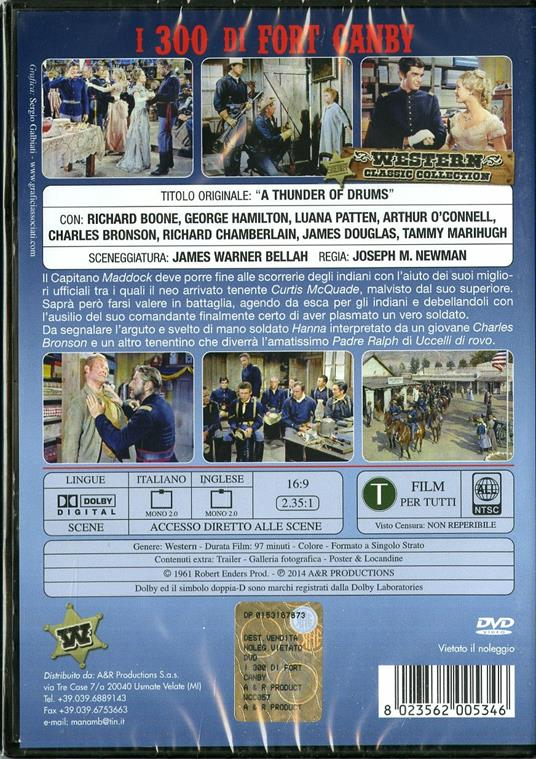 I trecento di Fort Canby di Joseph M. Newman - DVD - 2