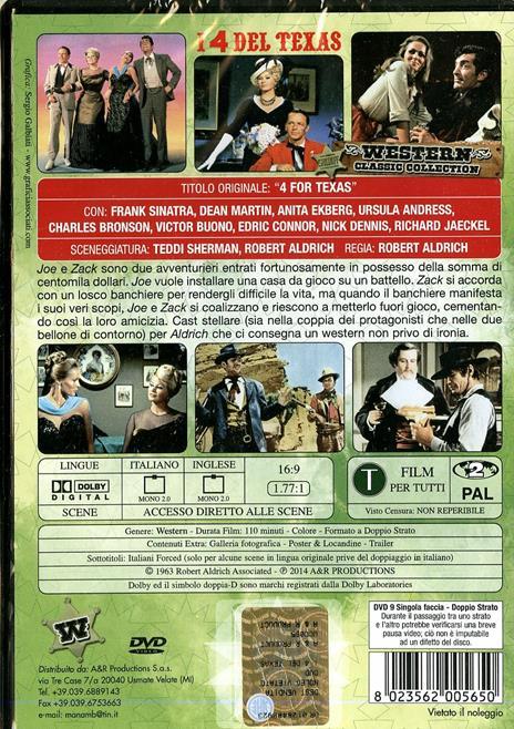 I quattro del Texas di Robert Aldrich - DVD - 2