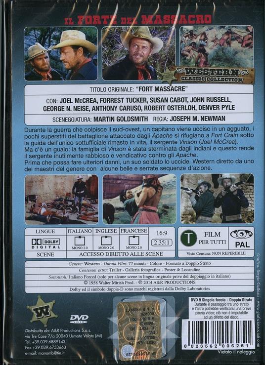 Il forte del massacro di Joseph M. Newman - DVD - 2