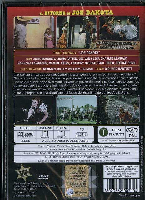 Il ritorno di Joe Dakota di Richard Bartlett - DVD - 2