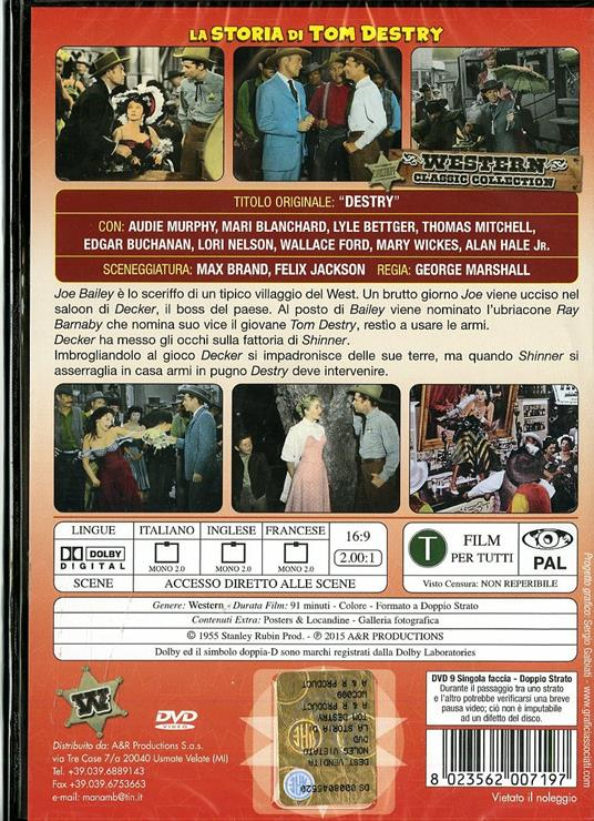 La storia di Tom Destry di George Marshall - DVD - 2