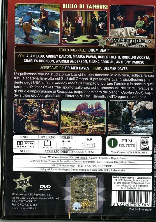 Rullo di tamburi di Delmer Daves - DVD - 2