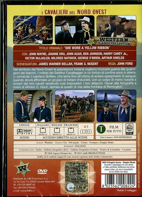 I cavalieri del Nord Ovest di John Ford - DVD - 2