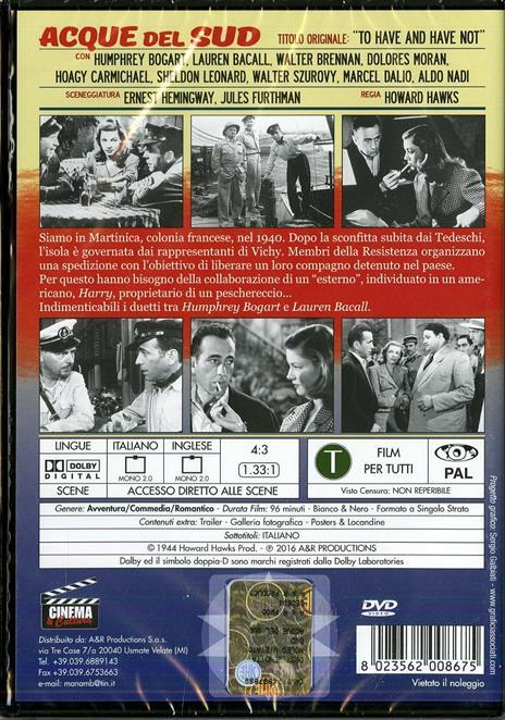 Acque del Sud di Howard Hawks - DVD - 2