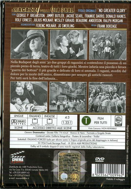 I ragazzi della via Paal di Frank Borzage - DVD - 2
