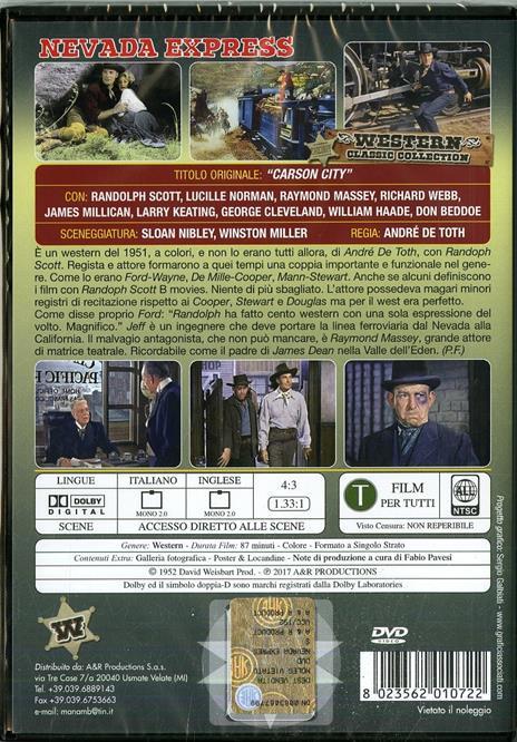 Nevada Express (DVD) di André De Toth - DVD - 2