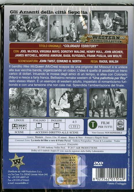 Gli amanti della città sepolta (DVD) di Raoul Walsh - DVD - 2