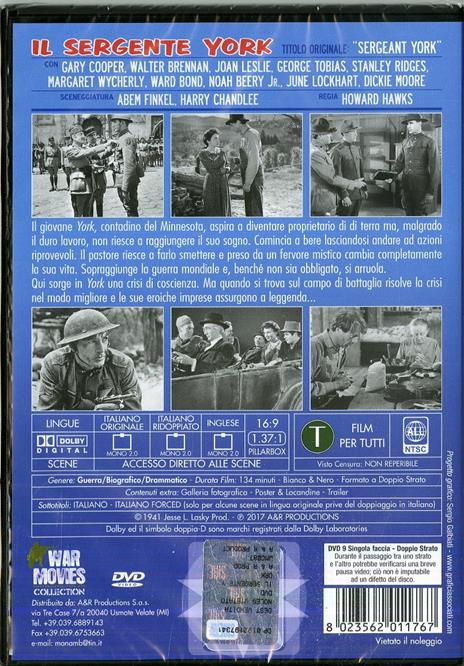 Il sergente York (DVD) di Howard Hawks - DVD - 2