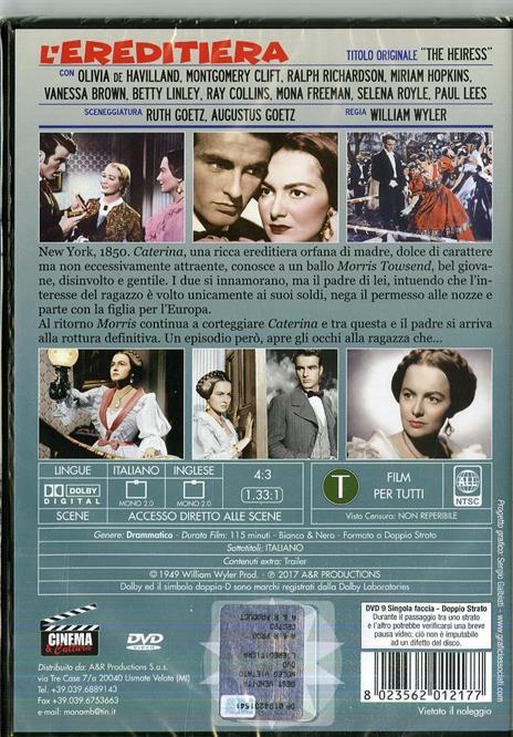 L' ereditiera (DVD) di William Wyler - DVD - 2
