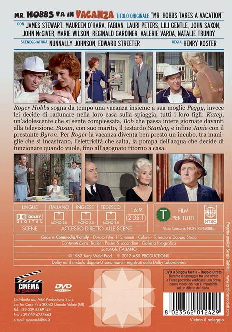 Mr. Hobbs va in vacanza. Rimasterizzato in HD (DVD) di Henry Koster - DVD - 2