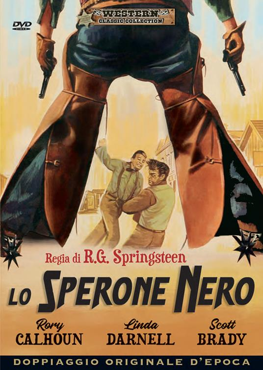 Lo sperone nero (DVD) di Robert G. Springsteen - DVD