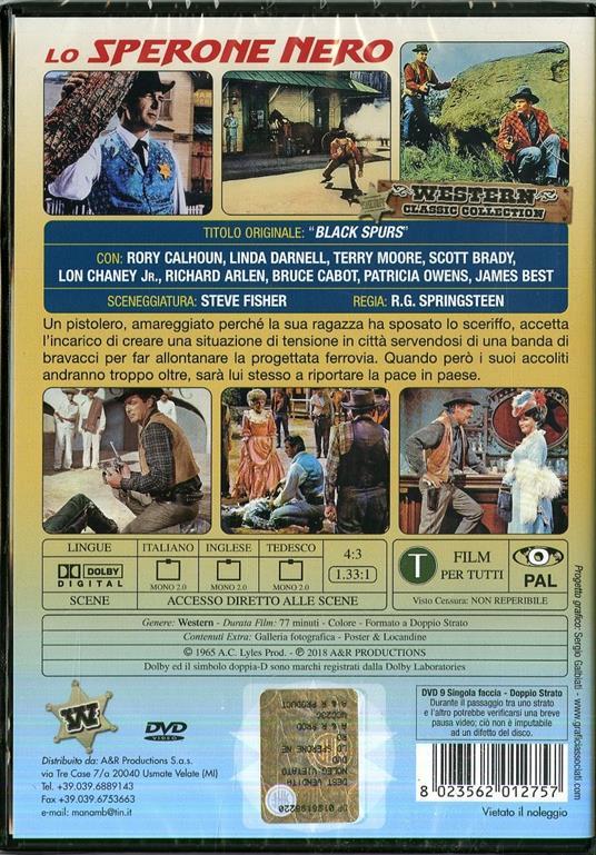 Lo sperone nero (DVD) di Robert G. Springsteen - DVD - 2