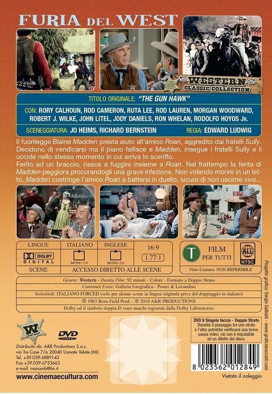 Furia del West (DVD) di Edward Ludwig - DVD - 2