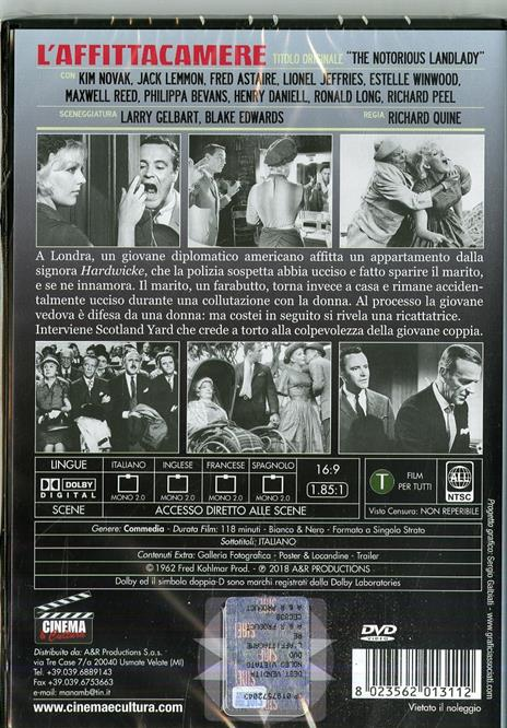 L' affittacamere (DVD) di Richard Quine - DVD - 2