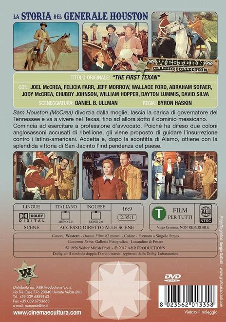 La storia del generale Houston (DVD) di Byron Haskin - DVD - 2