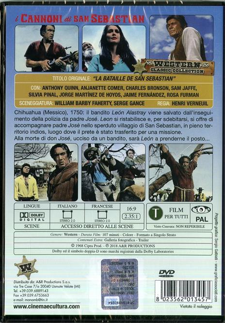 I annoni di San Sebastian di Henri Verneuil - DVD - 2