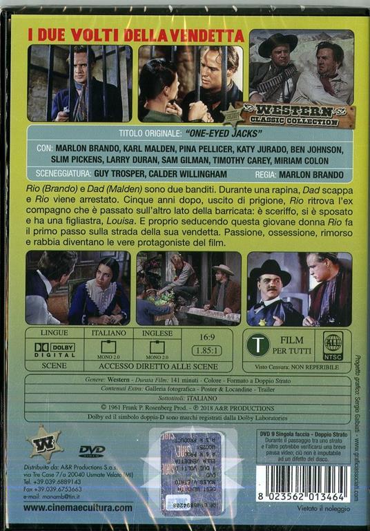 I due volti della vendetta di Marlon Brando - DVD - 2