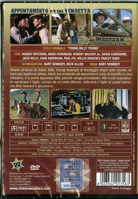 Appuntamento per una vendetta di Burt Kennedy - DVD - 2