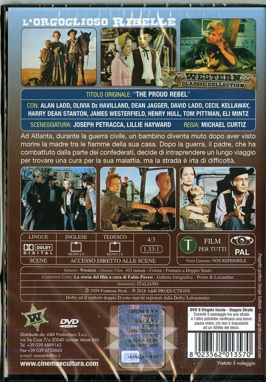 L' orgoglioso ribelle di Michael Curtiz - DVD - 2