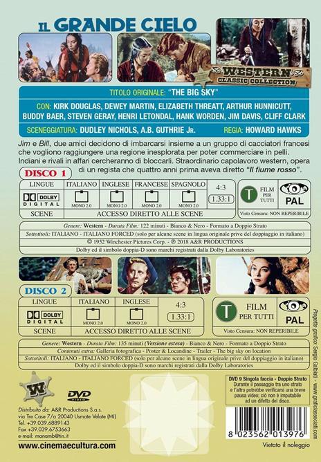 Il grande cielo (2 DVD) di Howard Hawks - DVD - 2