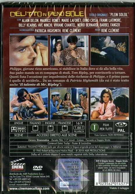 Delitto in pieno sole (DVD) di René Clement - DVD - 2