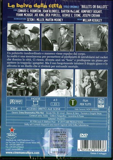 Le belve della città. In lingua originale sottotitolato in italiano (DVD) di William Keighley - DVD - 2