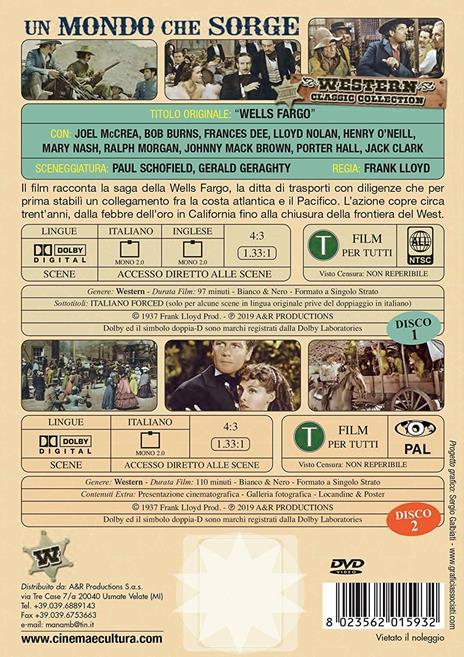 Un mondo che sorge (DVD) di Frank Lloyd - DVD - 2