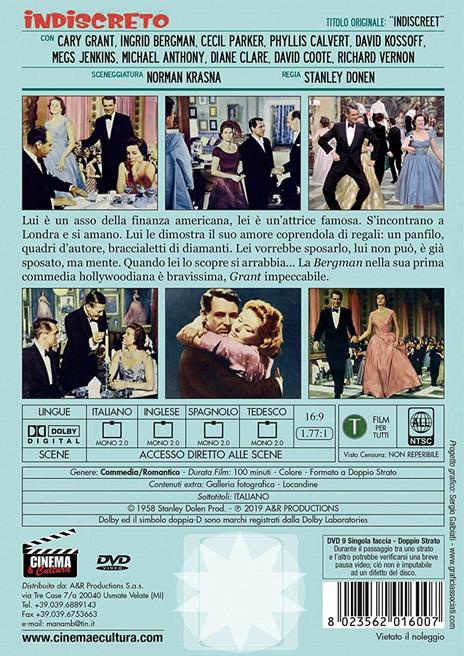 Indiscreto (DVD) di Stanley Dolen - DVD - 2