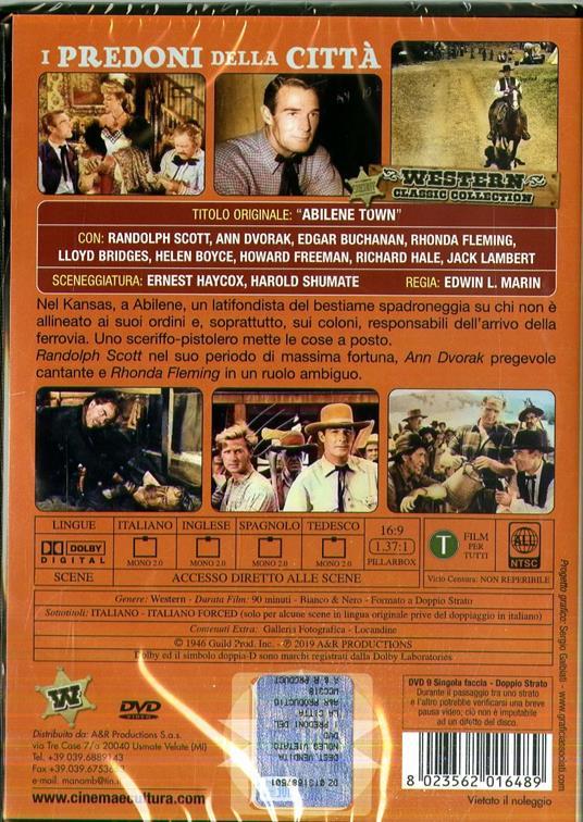 I predoni della città (DVD) di Edwin L. Marin - DVD - 2