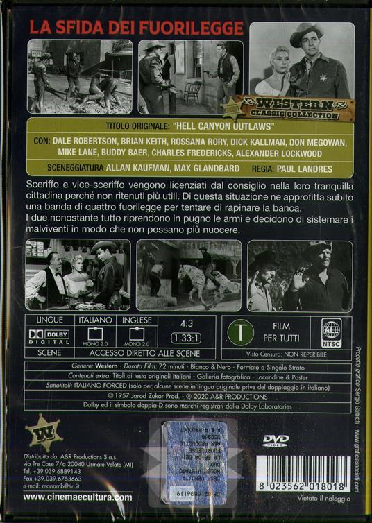 La sfida dei fuorilegge (DVD) di Paul Landres - DVD - 2