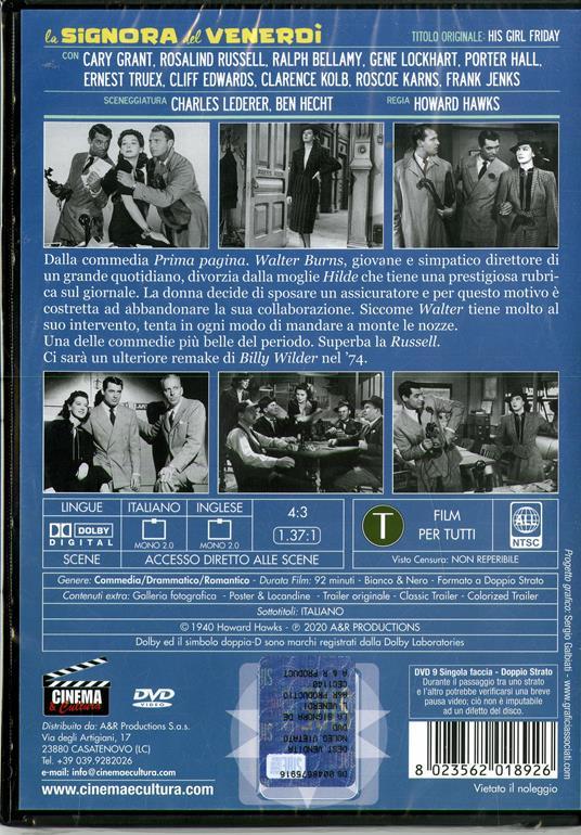 La signora del venerdì (DVD) di Howard Hawks - DVD - 2