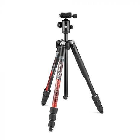 Manfrotto Element MII treppiede Fotocamere digitali/film 3 gamba/gambe Nero, Rosso