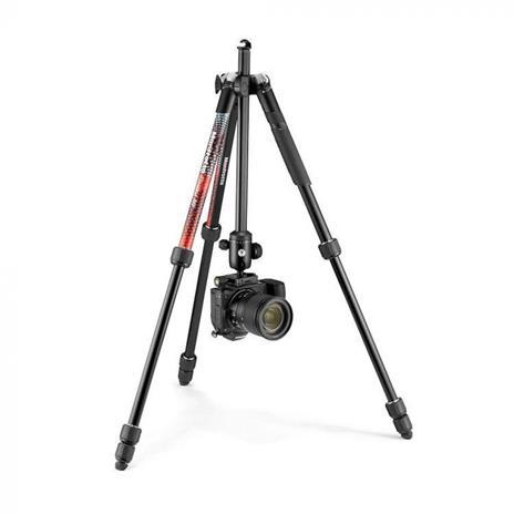 Manfrotto Element MII treppiede Fotocamere digitali/film 3 gamba/gambe Nero, Rosso - 5