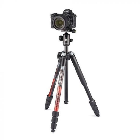 Manfrotto Element MII treppiede Fotocamere digitali/film 3 gamba/gambe Nero, Rosso - 6