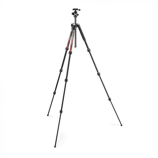 Manfrotto Element MII treppiede Fotocamere digitali/film 3 gamba/gambe Nero, Rosso - 7