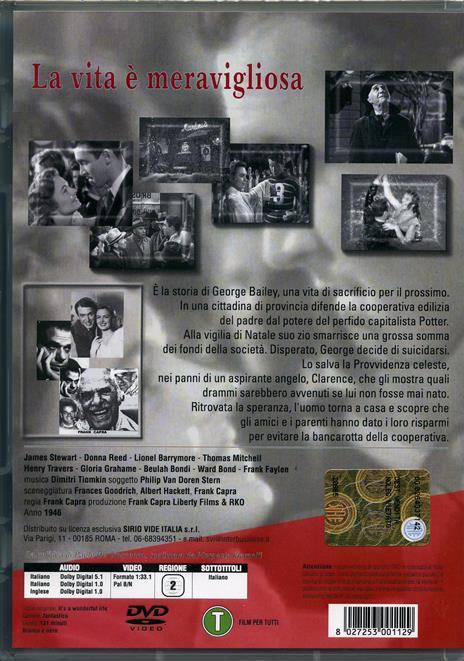 La vita è meravigliosa di Frank Capra - DVD - 2