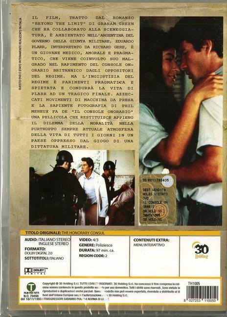 Il console onorario di John MacKenzie - DVD - 2