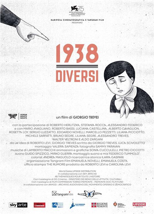 1938. Diversi (DVD) di Alessandro Federico,Roberto Herlitzka,Stefania Rocca - DVD