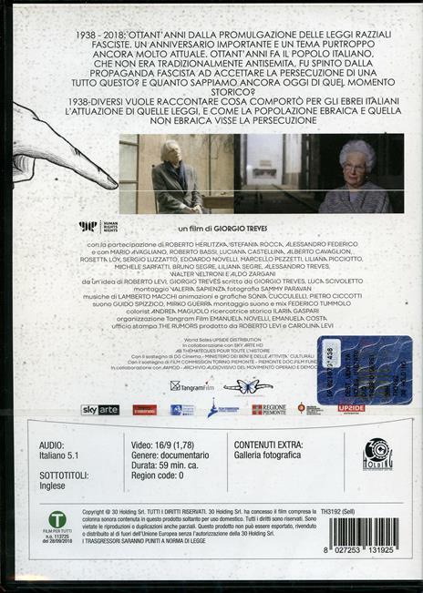 1938. Diversi (DVD) di Alessandro Federico,Roberto Herlitzka,Stefania Rocca - DVD - 2