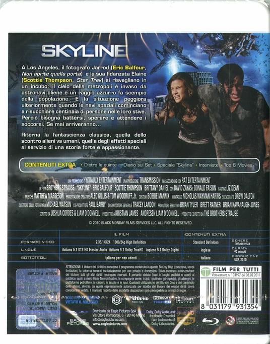 Skyline (Blu-ray)<span>.</span> Edizione speciale di Colin Strause,Greg Strause - Blu-ray - 2
