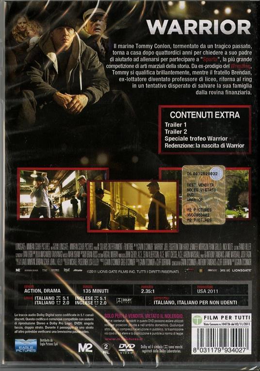 Warrior di Gavin O'Connor - DVD - 2