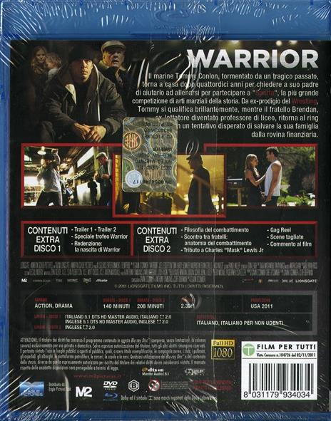 Warrior (DVD + Blu-ray) di Gavin O'Connor - 2