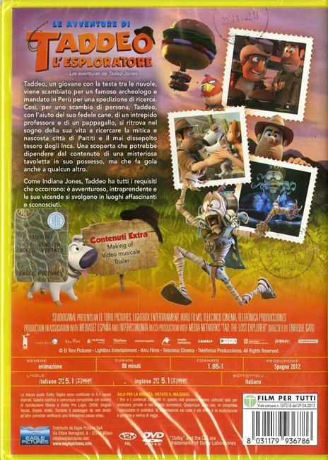 Le avventure di Taddeo l'esploratore di Enrique Gato - DVD - 2