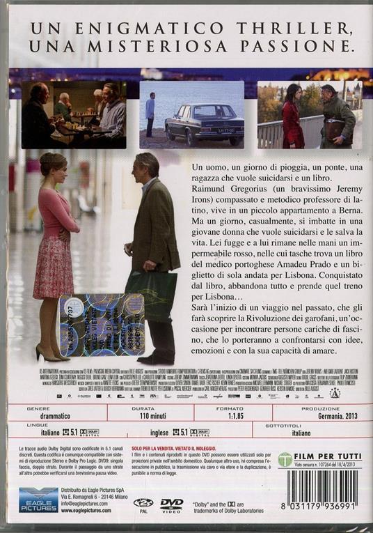 Treno di notte per Lisbona di Bille August - DVD - 2