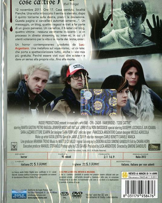 Cose cattive. Evil Things di Simone Gandolfo - DVD - 2