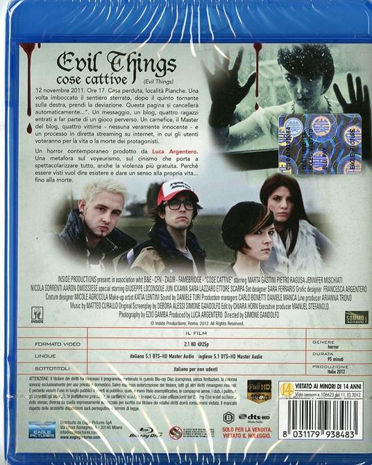 Cose cattive. Evil Things di Simone Gandolfo - Blu-ray - 2